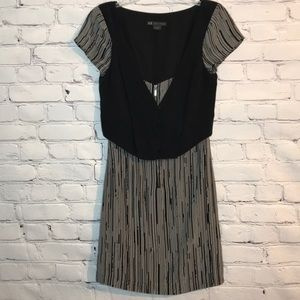 Like New Armani Exchange Silk Stripe Vest Dress 0P